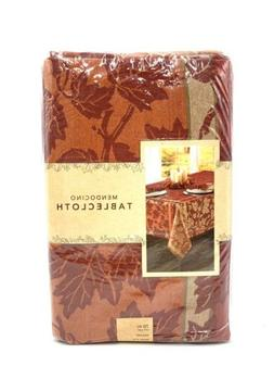 Mendocino 70 Inch Round Tablecloth in Red Floral Fall Spring