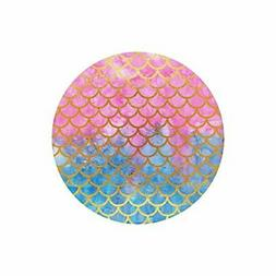 InterestPrint Mermaid Scales Watercolor Fish Scales Round No