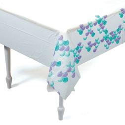 Mermaid Sparkle Plastic Tablecover Tablecloth Under The Sea