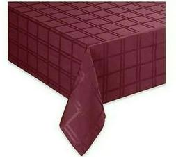 Origins Microfiber 60 X 102 Tablecloth Oval Ruby Red Spill P