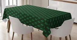 Money Tablecloth Ambesonne 3 Sizes Rectangular Table Cover H
