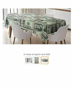 Ambesonne Money Tablecloth, Dollar Bills of United States Fe