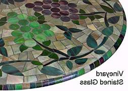 "Mosaic Table Cloth Round 36"" to 48"" Elastic Edge Fitted Viny"
