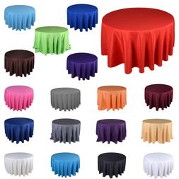 TulleShop New 90 Inch Round Polyester Tablecloths Table Cove
