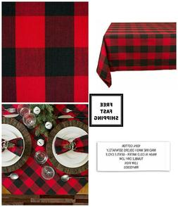 New Dining Fall Buffalo Check Plaid Red & Black Cotton Autum