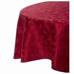 """New Lenox Holly Damask Red 70"""" Round Tablecloth"""