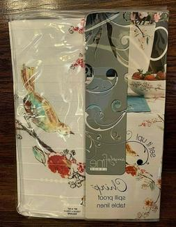 """NWT Lenox Chirp Pattern 52"""" Square Tablecloth - Spillproof"""
