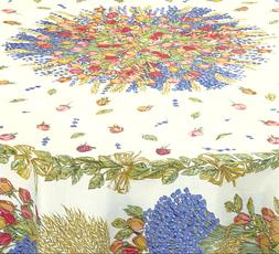 """NWT FRENCH 100% COTTON 71"""" ROUND TABLECLOTH by MARAT-AVIGNON"""