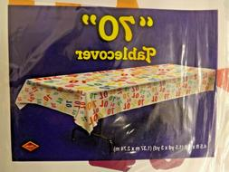 Pack of 3 Birthday Age 70 Tablecovers Tablecloths Colorful C