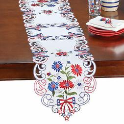 Patriotic Daisies Kitchen and Dining Table Linens