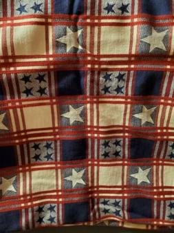 Pampered Chef Patriotic Tablecloth, Rectangle, Retired, Gent