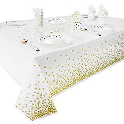 Plastic Tablecloth for Party Table Cloths Disposable Gold Do