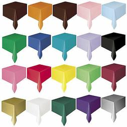 PLASTIC TABLECOVERS Party Table Cloth Cloths Rectangle Oblon