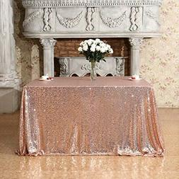 poise3ehome 50x50 square sequin tablecloth for party