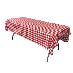 LA Linen Polyester Checkered 60 by 102-Inch Rectangular Tabl