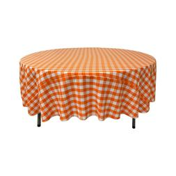 LA Linen Polyester Gingham Checkered 72-Inch Round Tableclot