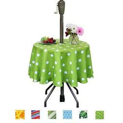Eternal Beauty Polyester Outdoor Tablecloth Round Spillproof