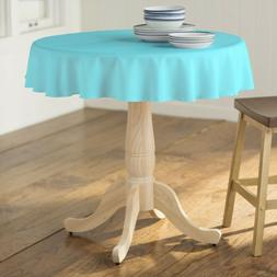LA Linen Polyester Poplin Round Tablecloth, 58-Inches.  Made