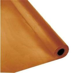 Pumpkin Spice Plastic Banquet 100' Tablecloth Roll Touch of