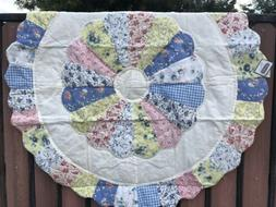 "Quilted ROUND Table Topper Centerpiece 36"" NEW~Country Vic"