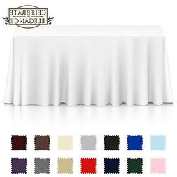 Rectangular Wedding Banquet Polyester Fabric Tablecloth