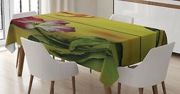 Romance Tablecloth Ambesonne 3 Sizes Rectangular Table Cover