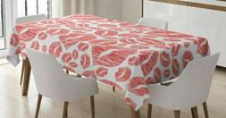 Romantic Hot Retro Lady Lips Rectangular Tablecloth 60 X 90