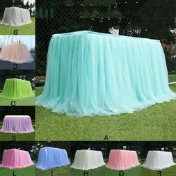 "39*29"" Tulle Rectangle Tablecloths Skirt Decor For Wedding P"