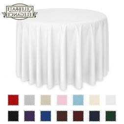Round Wedding Banquet Polyester Fabric Tablecloth