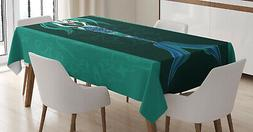 Sea Life Tablecloth Ambesonne 3 Sizes Rectangular Table Cove