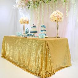 seamless 60 x102 gold sequin tablecloth table