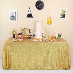 GFCC Seamless Glitter Gold Sequin Tablecloth for Party Weddi