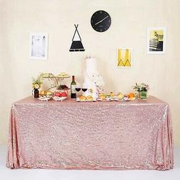 "GFCC Seamless Rose Gold Sequin Tablecloth 60""x120"" 60""*120"""