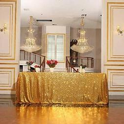 Poise3EHome Sequin Tablecloth 60x102 Inches Rectangle Table