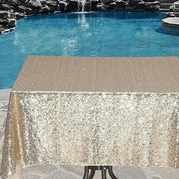 Poise3EHome Sequin Tablecloth for Sparkly Wedding, Glitter B