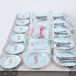 Silver Pressed Kids Mermaid Theme Birthday Party Supplies Fa