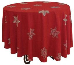 Xia Home Fashions Snowy Noel Embroidered Snowflake Christmas