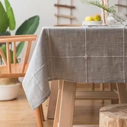 solid embroidery lattice tablecloth cotton linen dust