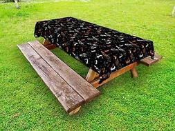 Space Outdoor Picnic Tablecloth Ambesonne in 3 Sizes Washabl