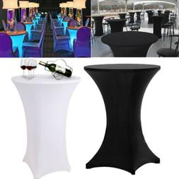 Spandex Cocktail Bar Table Cover Tablecloth Square Corner Fr