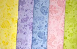 Spring Easter Flannel Backed Vinyl Tablecloths. Round, Oblon