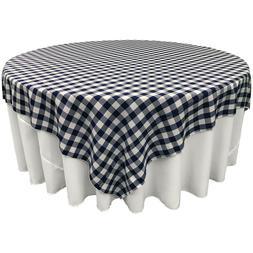 LA Linen Square Checkered Tablecloth 72 by 72-Inch. Made in