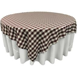 LA Linen Square Checkered Tablecloth 84 by 84-Inch. Made in