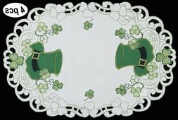Creative Linens St Patrick's Day Shamrock Clover Placemats T