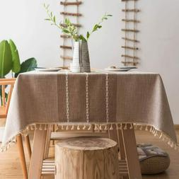 ColorBird Stitching Tassel Tablecloth Rectangle/Oblong, 55 x