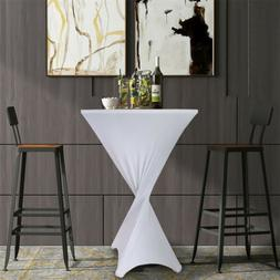 Stretch Tablecloth Cocktail Spandex Fitted 4 Legs Base Table