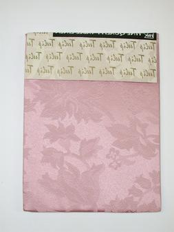 "Lintex Tablecloth Cotton Blend ~ Tulip Rose Damask ~ 70"" Rou"
