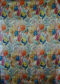AMBESONNE TABLECLOTH HOUSE DECOR OCEAN ANIMAL MULTI-COLOR WH