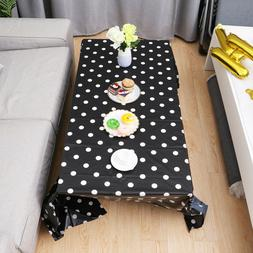 Tablecloth Polka Dots Pattern Disposable Rectangle Table Cov