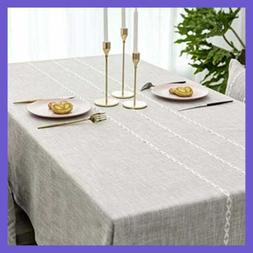 Tablecloth Rectangle Lattice Stripe Table Cover For Party We